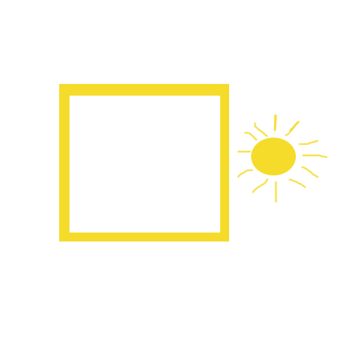 yellow square with sun on iPhone